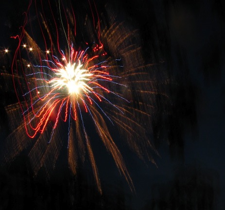 Fireworks- Jumpin' Jack's 2009 -beyond branches (orig.)