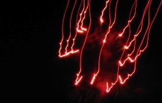 Fireworks - Jumpin' Jack's 2009 - red stream
