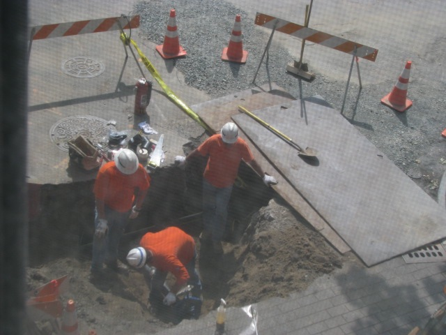 National Grid crew at Cucumber Alley 13Jul09