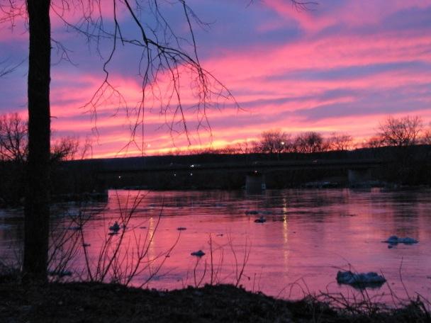late sunset - 11Mar09 - from rear of 16 Washington Av
