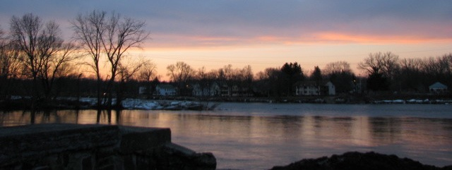 sunset panorama from the end of Wash. Ave., Schdy - 11Mar09