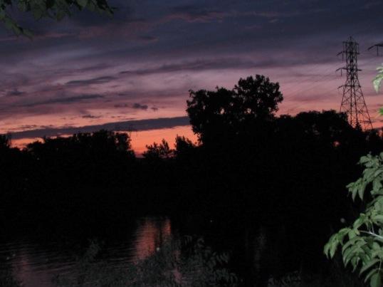 pastel sunset, with flash, from 16 Washington Ave. - 11Aug09
