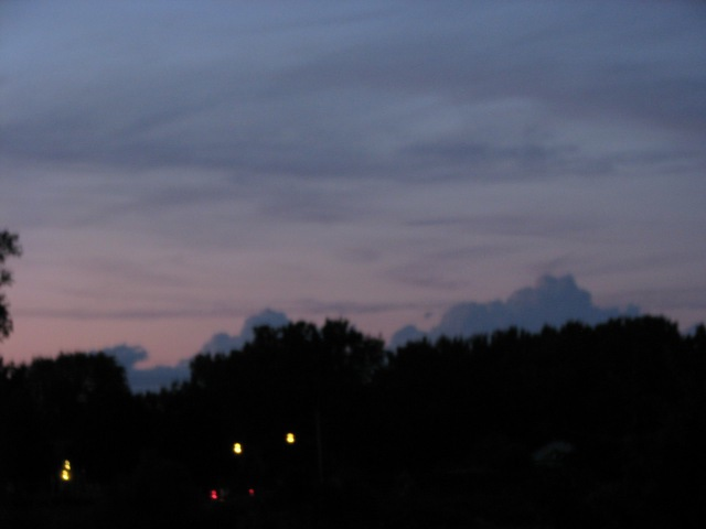 pastel impressionist sunset over Scotia from Riverside Park - 11Aug09