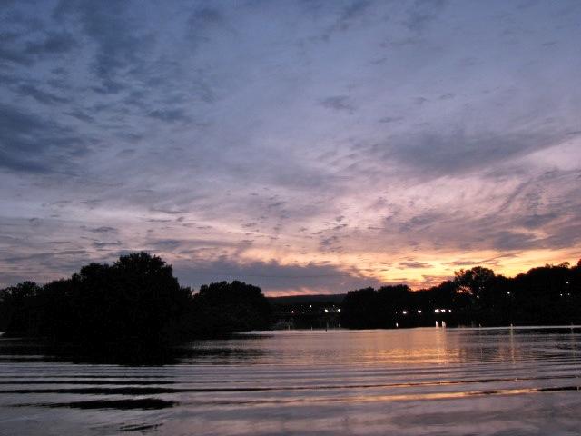 saturday sunset from Riverside Park toward Scotia - 08Aug09