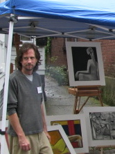 Steve Kowalski at his exhibit, 11:30 AM, 12 Sep09