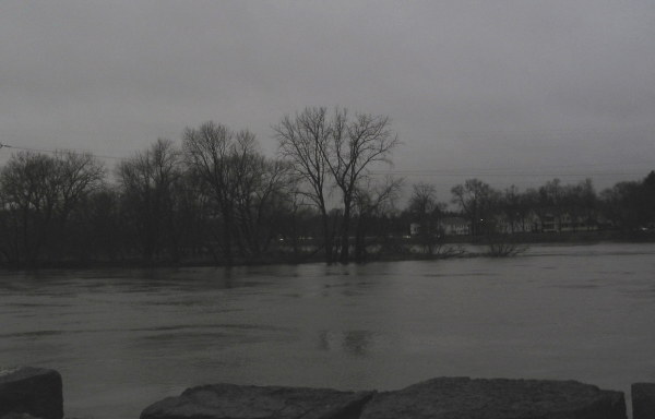 Mohawk River from the end of Washington Ave., Schenectady - 08March08