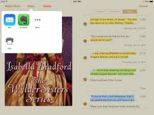 ipad editing using ibooks and scrivener
