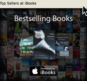 screenshot of top selling books at iBooks