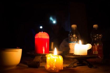 Sciora di dentro - via Burgasser - nuova variante 4.Cena a lume di candela all'invernale della Capanna Sciora