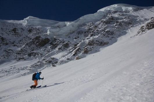 Fletschorn discesa sci parete nord via viennesi scialpinismo sci ripido giacomo jack longhi mountainspaceIMG_4697