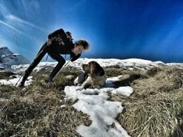 cane da tartufo grigne grignone invernale rifugio brioschi giacomo longhi elisa broggi claudio camp cassin pialleral traversata alta bassa comolli mountainspace (9)