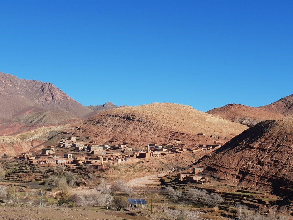 Villaggio berbero sulle Montagne dell alto atlante Marocco