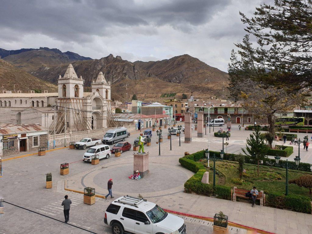 plaza de armas chivay
