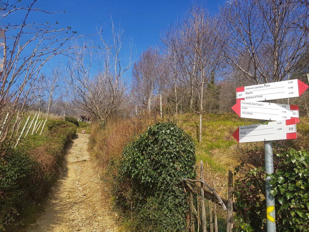 Segnavia sentiero Pontida