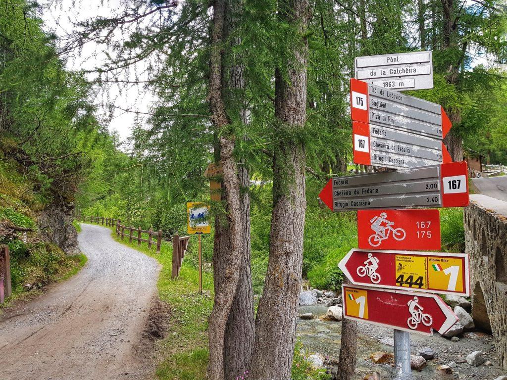 Cartello Val Federia Sentiero