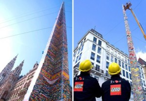 torre di mattoncini lego