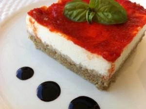 torta pomodoro e basilico