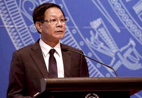 Ông Phan Văn Vĩnh khi giữchức Tổng cục trưởng Tổng Cục Cảnh sát, ảnh chụp tháng 10/2016.