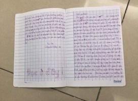 """Xôn xao lá thư tuyệt mệnh của bé gái 11 tuổi nhảy lầu chung cư tự tử vì chuyện gia đình: """"Giá mà bây giờ gia đình mình như vậy thì tốt quá, nhưng không, mọi thứ tan vỡ rồi"""""""