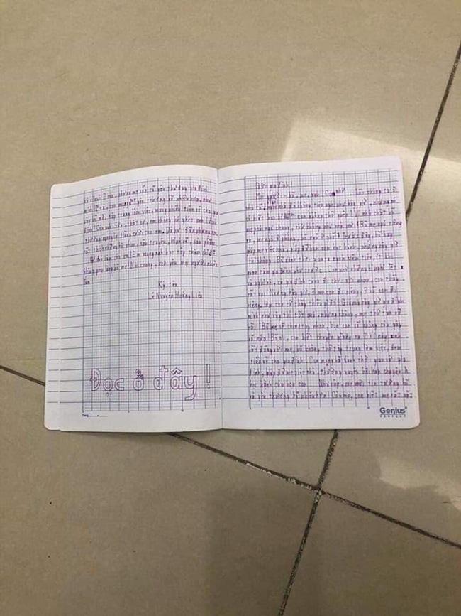 Xôn xao lá thư tuyệt mệnh của bé gái 11 tuổi nhảy lầu chung cư tự tử vì chuyện gia đình: