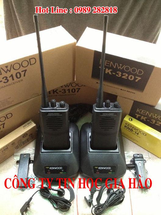 Máy bộ đàm cầm tay Kenwood TK-3207 chính hãng giá rẻ của công ty Tin Học Gia Hào có thể được xem là phiên bản nâng cấp của máy bộ đàm Kenwood TK-3107 đang bán rất chạy