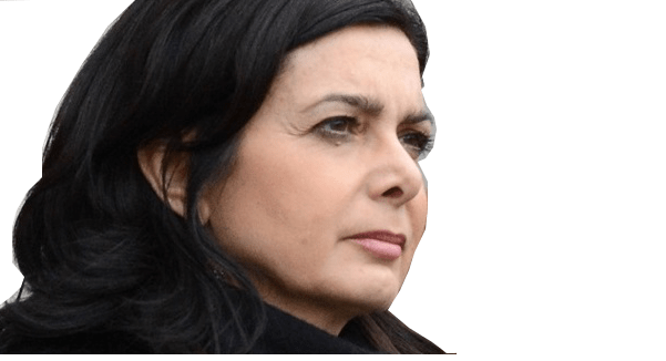 Laura Boldrini (2013) Source: Derivative work: Jaqen; Source: Boldrini, Napolitano and Grasso 2013.jpg Author: Unknown