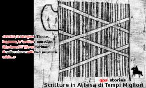 codice a barre | gps's stories - scritture in attesa di tempi migliori (disegno ispirato a una vignetta su Repubblica)