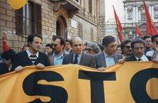 1985 Manifestazione contro il nucleare con Gianni Mattioli