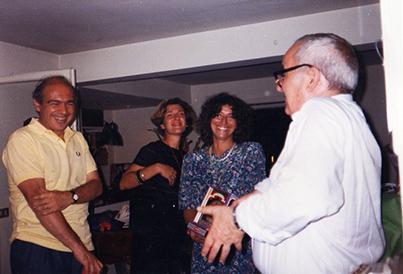Con Angiolo Bandinelli, Liliana Ingargiola e Irene Agnello