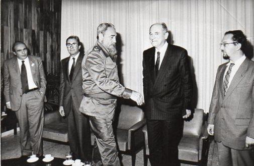 Cuba 1990 con la delegazione dell'unione interparlamentare da Fidel Castro