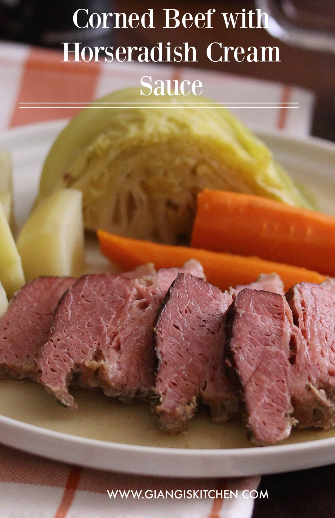 Corned Beef with Horseradish Cream Sauce