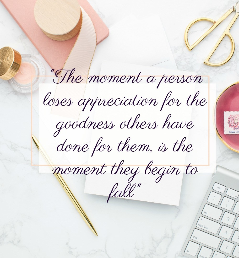 The time a person loses appreciation...