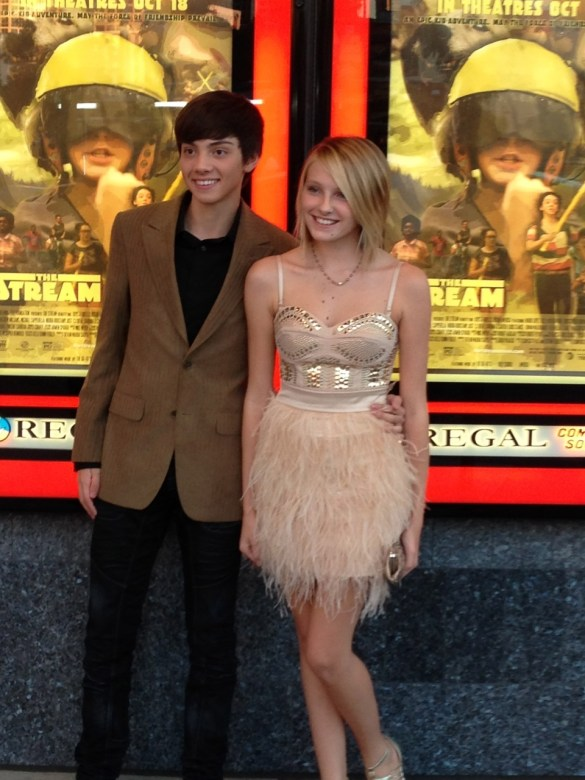 Gianna LePera and CJ Diel at The Stream Premier