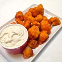 Buffalo Cauliflower Wings with Homemade Ranch Dressing
