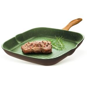 Итальянская сковорода гриль Giannini для газовой, индукционной и электрической плиты оптом и в розницу, доставка по всей России!