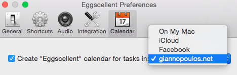 Setting Eggscellent preferences