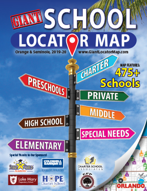 Map cover of School Locator Map of Orange & Seminole Counties