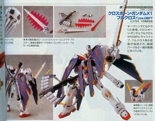 HGBF 1/144 Crossbone Gundam X1 Full Cloth GBF Ver