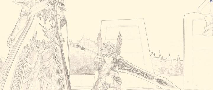 Dark Knight Lalafell from Final Fantasy XIV