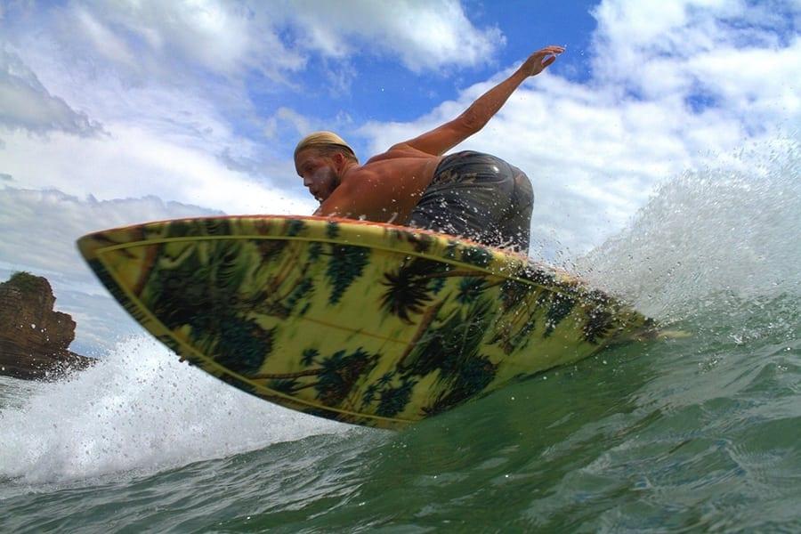 A Nicaragua surf camp instructor