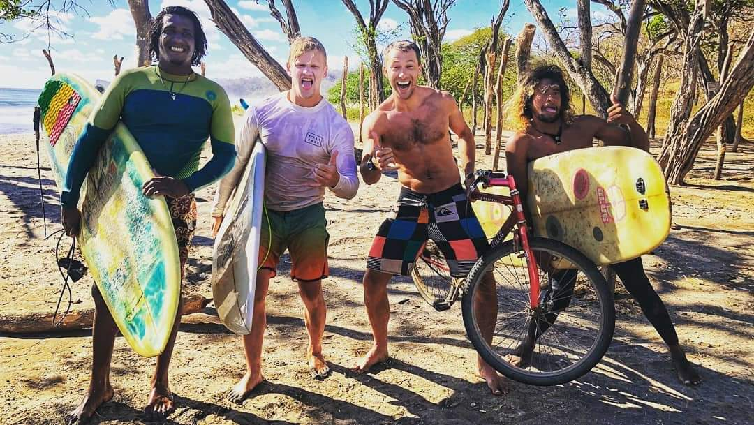 Giant's Foot Surf Tours surf guides and guests