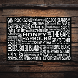 Canvas Print | 30,000 Destinations | Giants Tomb Trading Co - Honey Harbour