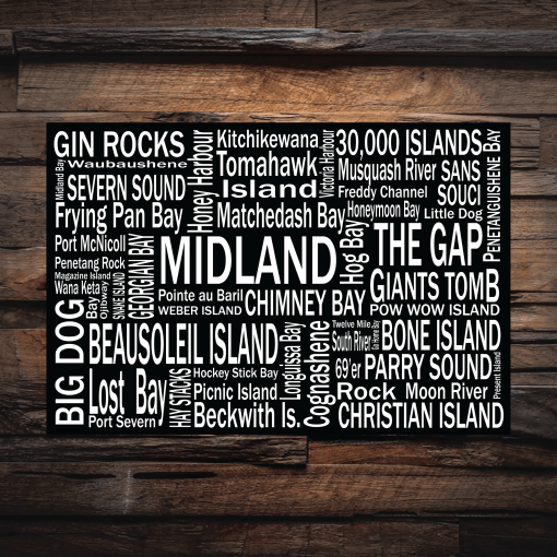 Canvas Print | 30,000 Destinations | Giants Tomb Trading Co - Midland