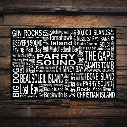 Canvas Print | Georgian Bay Destinations | Giants Tomb Trading Co - Parry Sound