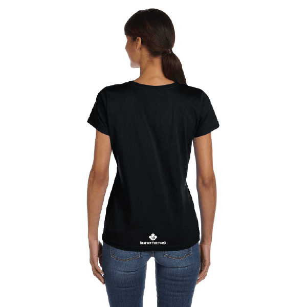 WOMEN'S T-SHIRT | GTTC HD COTTON - Black - Back