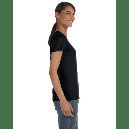 WOMEN'S T-SHIRT   GTTC HD COTTON - Black - Side