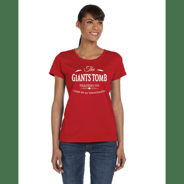 WOMEN'S T-SHIRT | GTTC HD COTTON - Red - Front