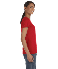 WOMEN'S T-SHIRT | GTTC HD COTTON - Red - Side