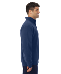 QUARTER ZIP SWEATSHIRT | GTTC NUBLEND | UNISEX - Navy - Side