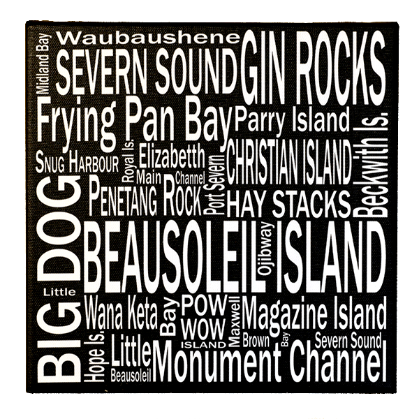8 x 8 Georgian Bay Beausoleil Is - Canvas Print - Wall Art - Giants Tomb Trading Co